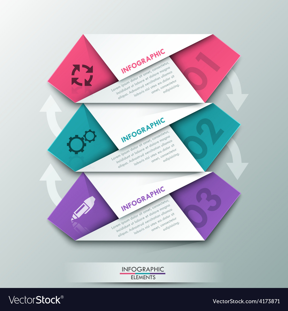 Modern infographic option banner vector | Price: 3 Credit (USD $3)