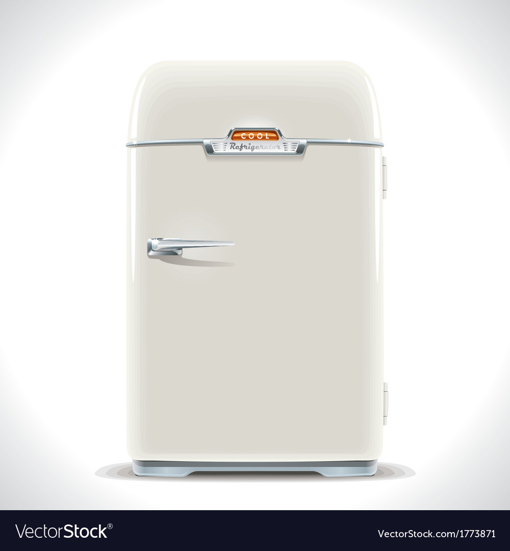 Old refrigerator vector | Price: 1 Credit (USD $1)