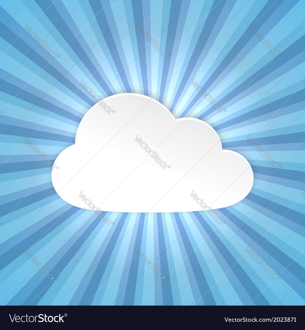 Paper cloud background vector | Price: 1 Credit (USD $1)