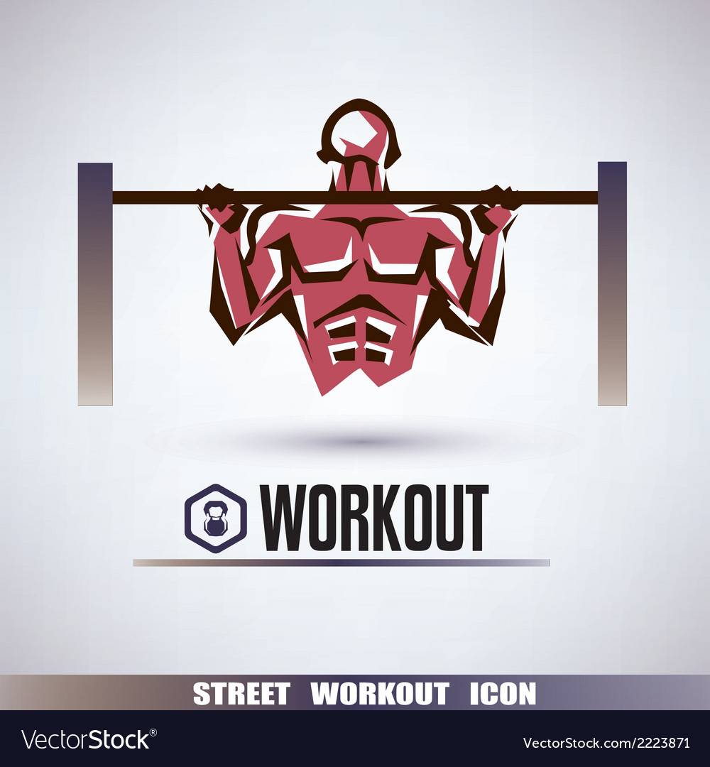 Street workout symbol vector | Price: 1 Credit (USD $1)