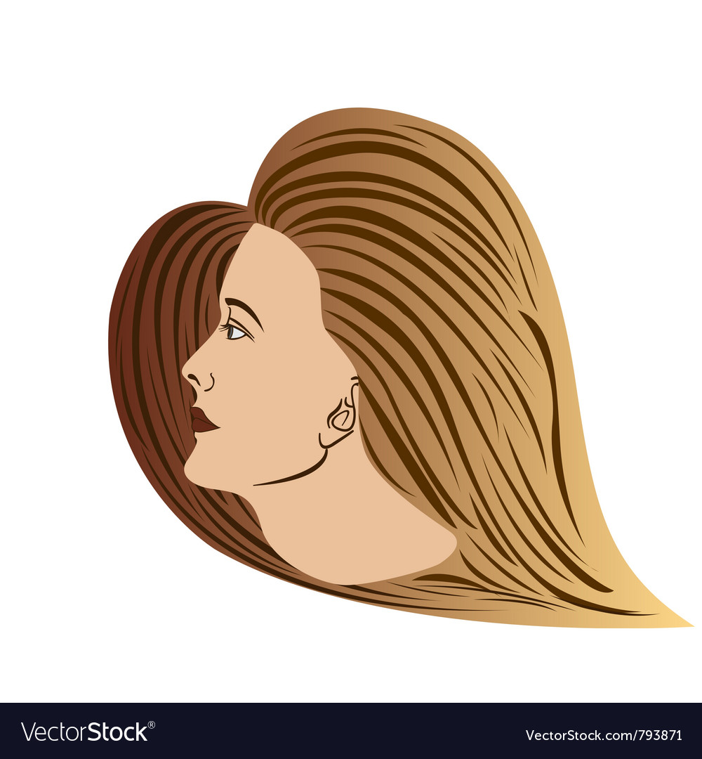 Woman-portrait vector | Price: 1 Credit (USD $1)