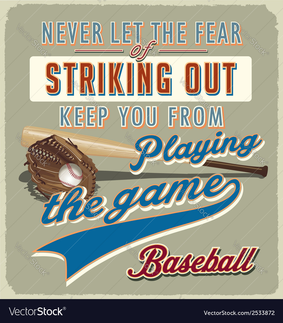 Baseball striking out vector | Price: 1 Credit (USD $1)