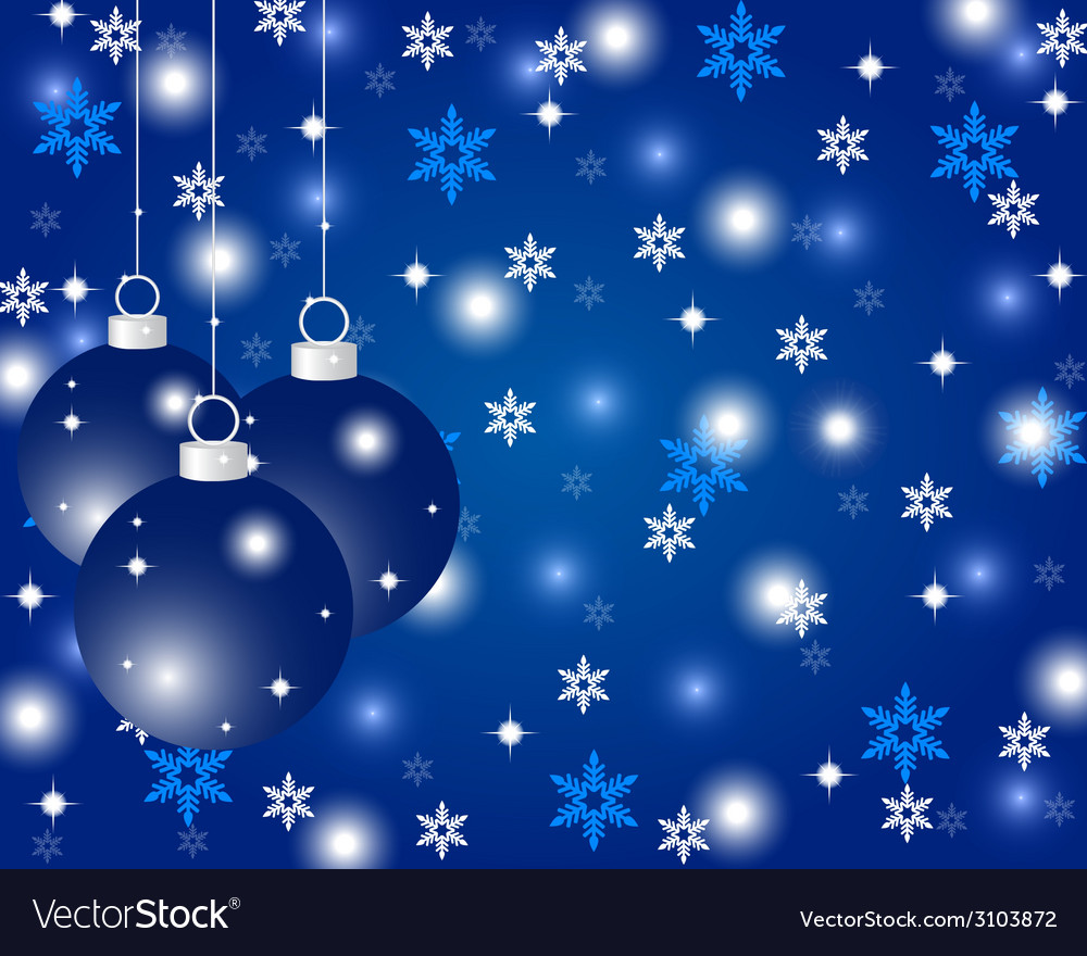 Blue christmas background with christmas balls vector | Price: 1 Credit (USD $1)