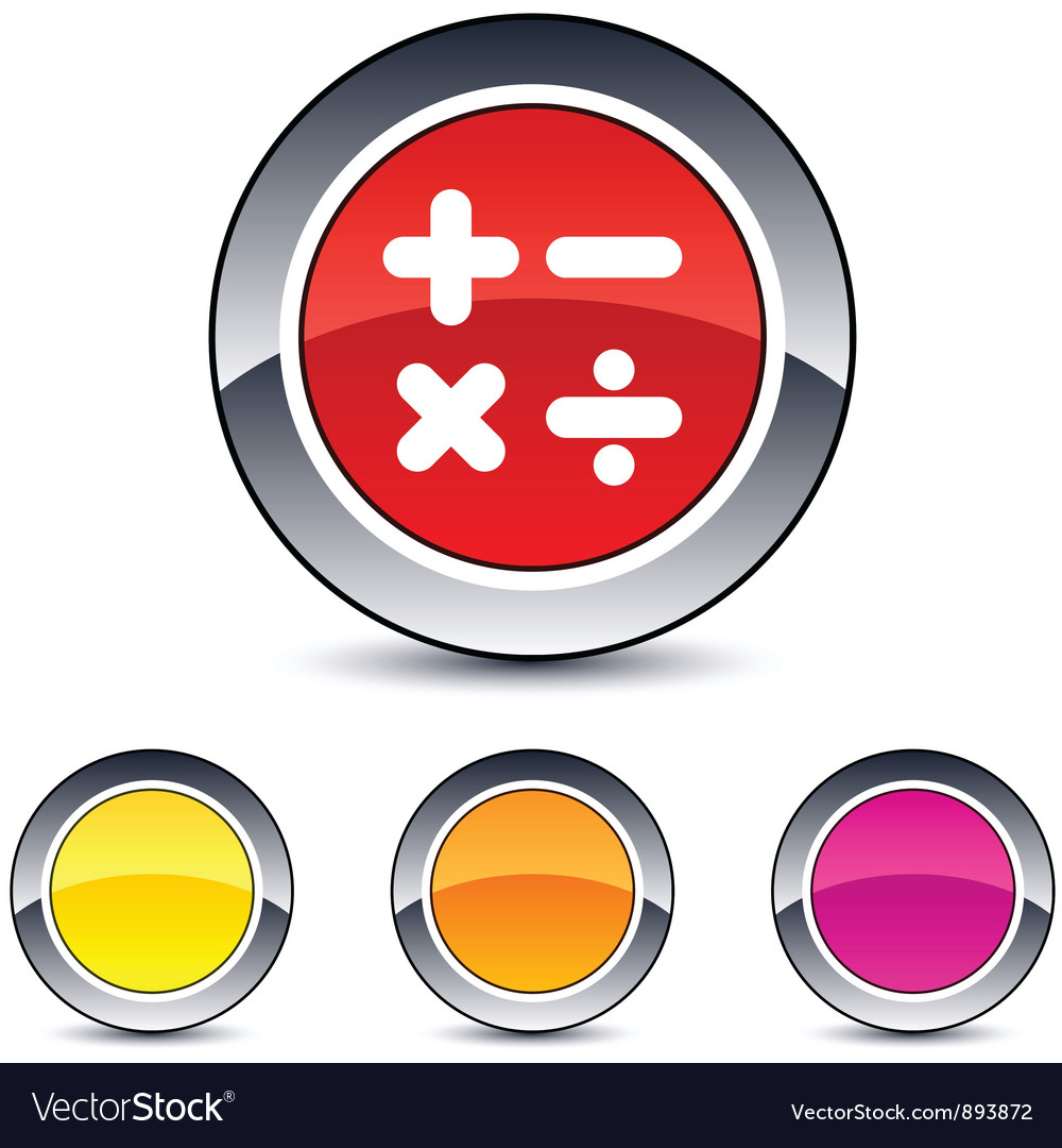 Calculate round button vector | Price: 1 Credit (USD $1)