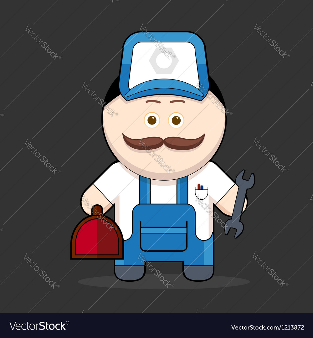 Cute handyman-mechanic vector | Price: 3 Credit (USD $3)
