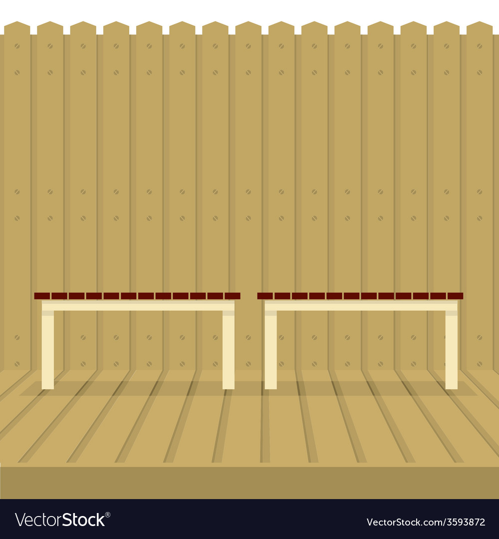 Empty chairs on wood wall and ground vector | Price: 1 Credit (USD $1)