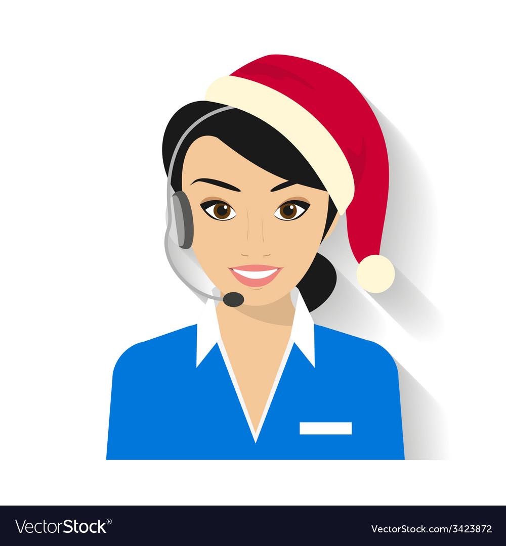 Female call centre operator vector | Price: 1 Credit (USD $1)