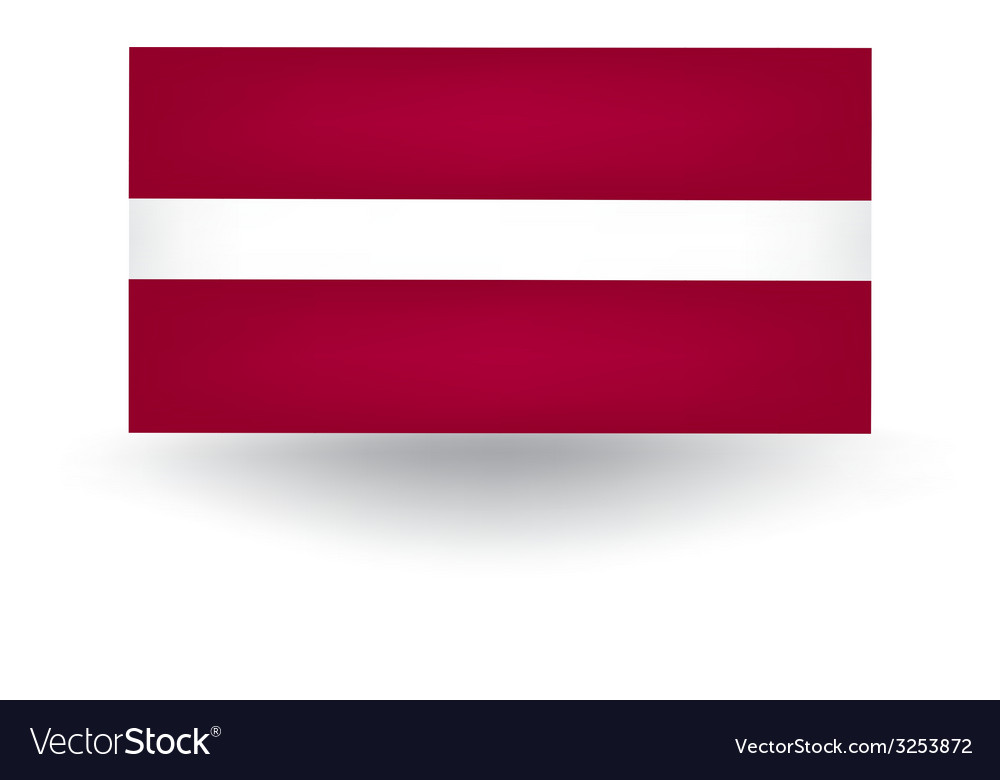 Latvian flag vector | Price: 1 Credit (USD $1)