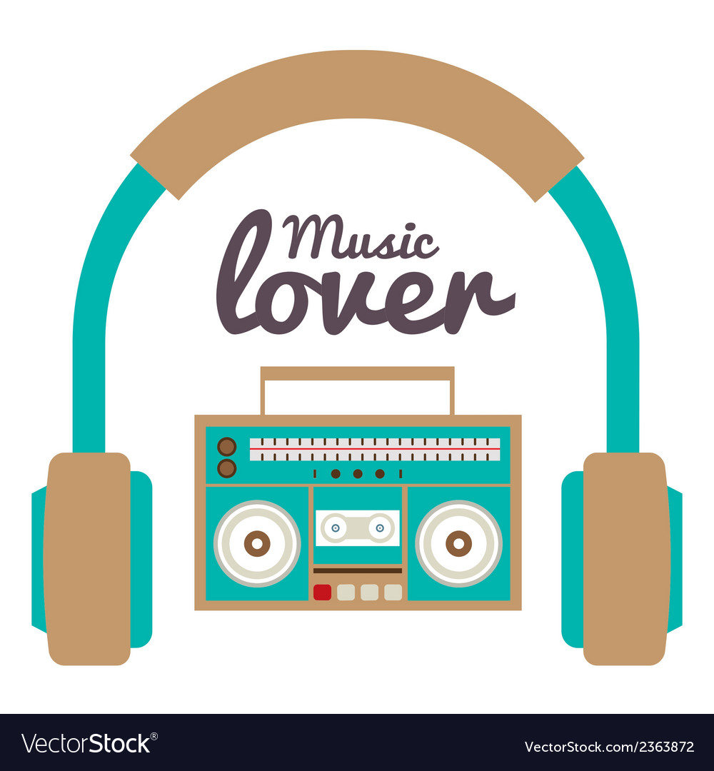 Music lover vector | Price: 1 Credit (USD $1)