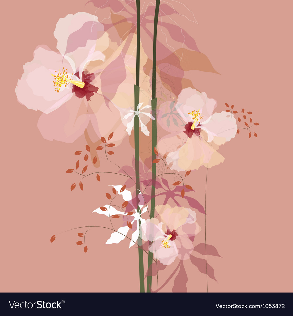 Natural flowers bouque vector | Price: 1 Credit (USD $1)