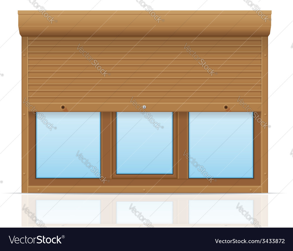 Plastic window with rolling shutters 10 vector | Price: 1 Credit (USD $1)
