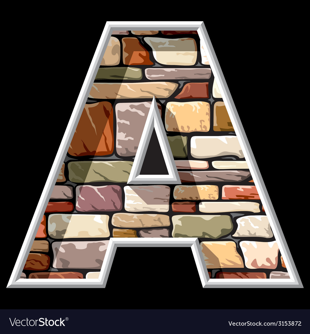 Stone letter a vector | Price: 1 Credit (USD $1)