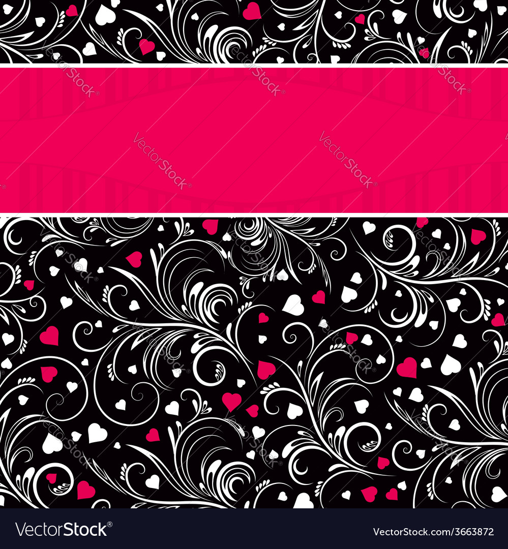 Valentinbackground with white ornaments vector | Price: 1 Credit (USD $1)