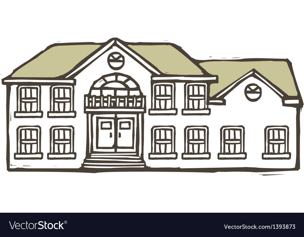 A house is placed vector | Price: 1 Credit (USD $1)