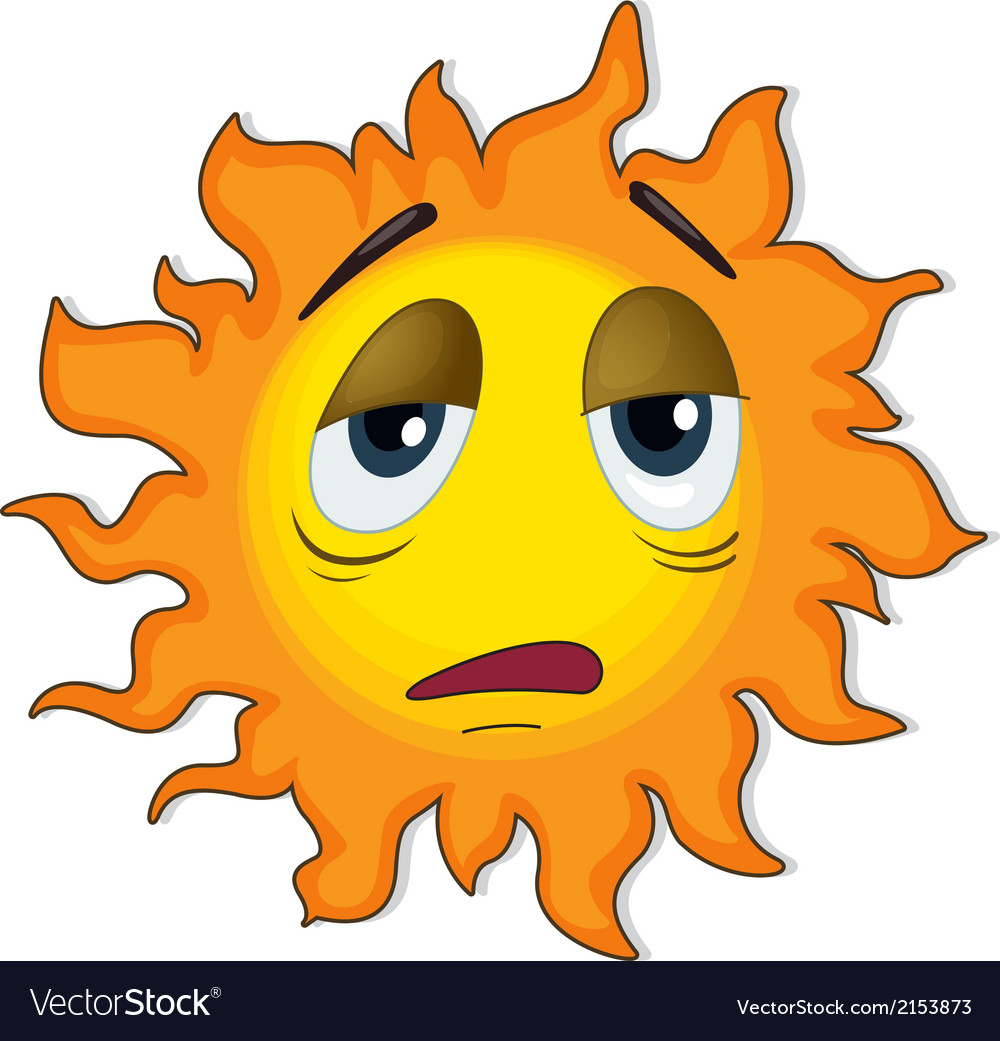 A tired sun vector | Price: 1 Credit (USD $1)