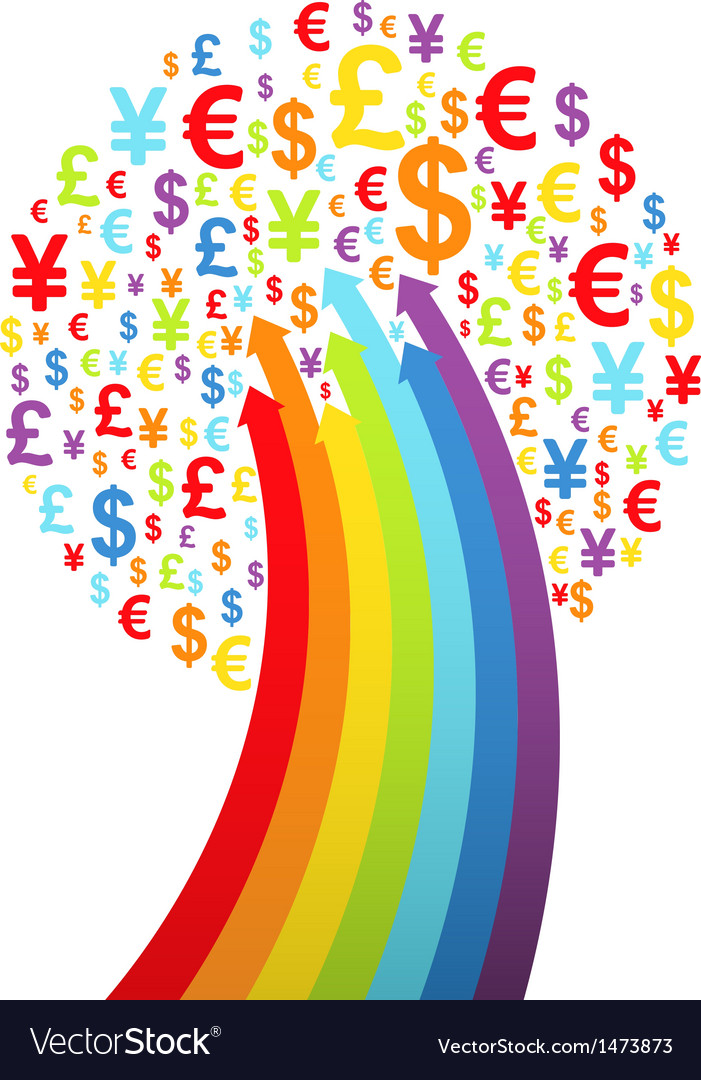 Abstract rainbow money tree vector | Price: 1 Credit (USD $1)