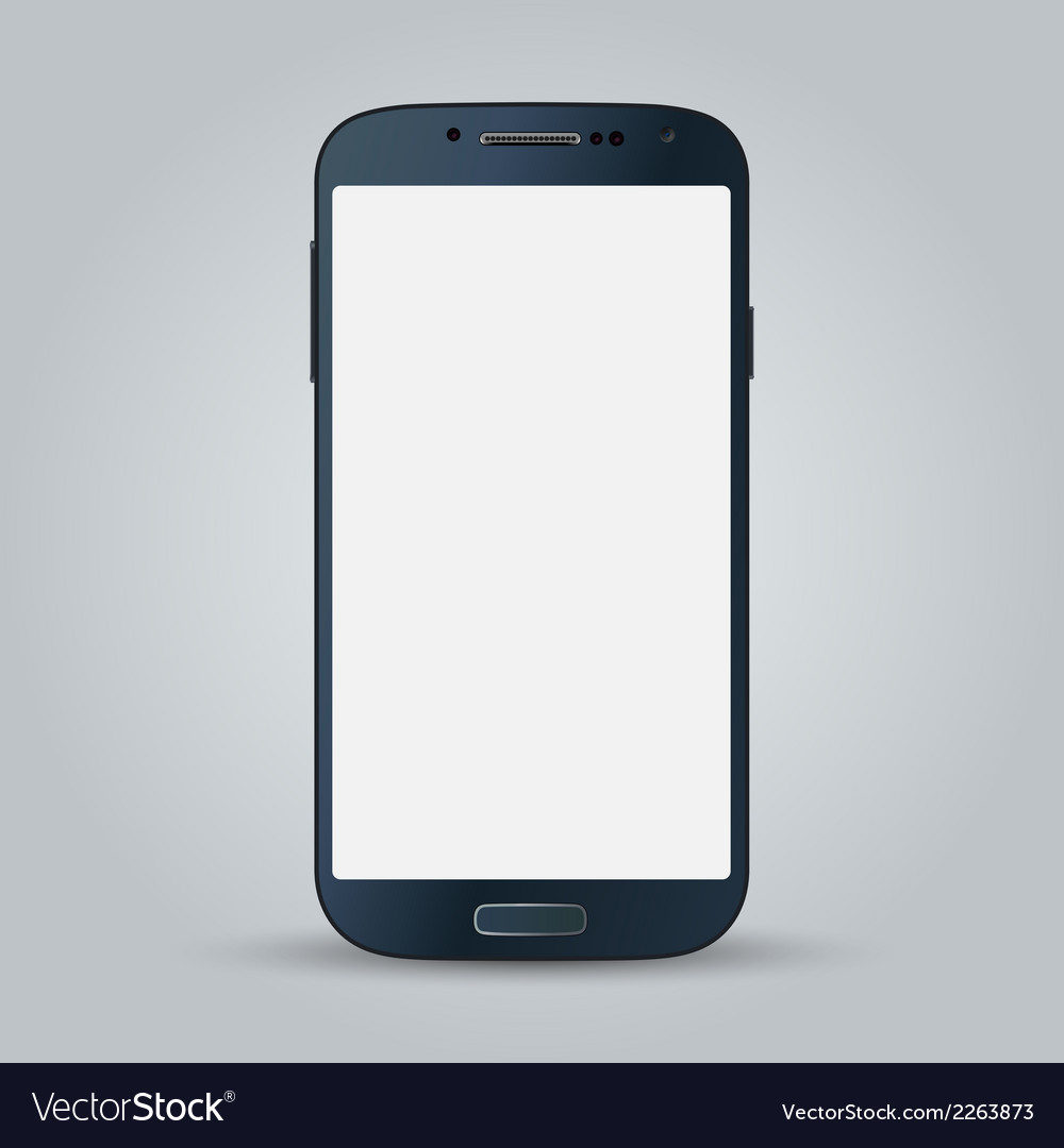 Black business mobile phone style isolated on vector | Price: 1 Credit (USD $1)