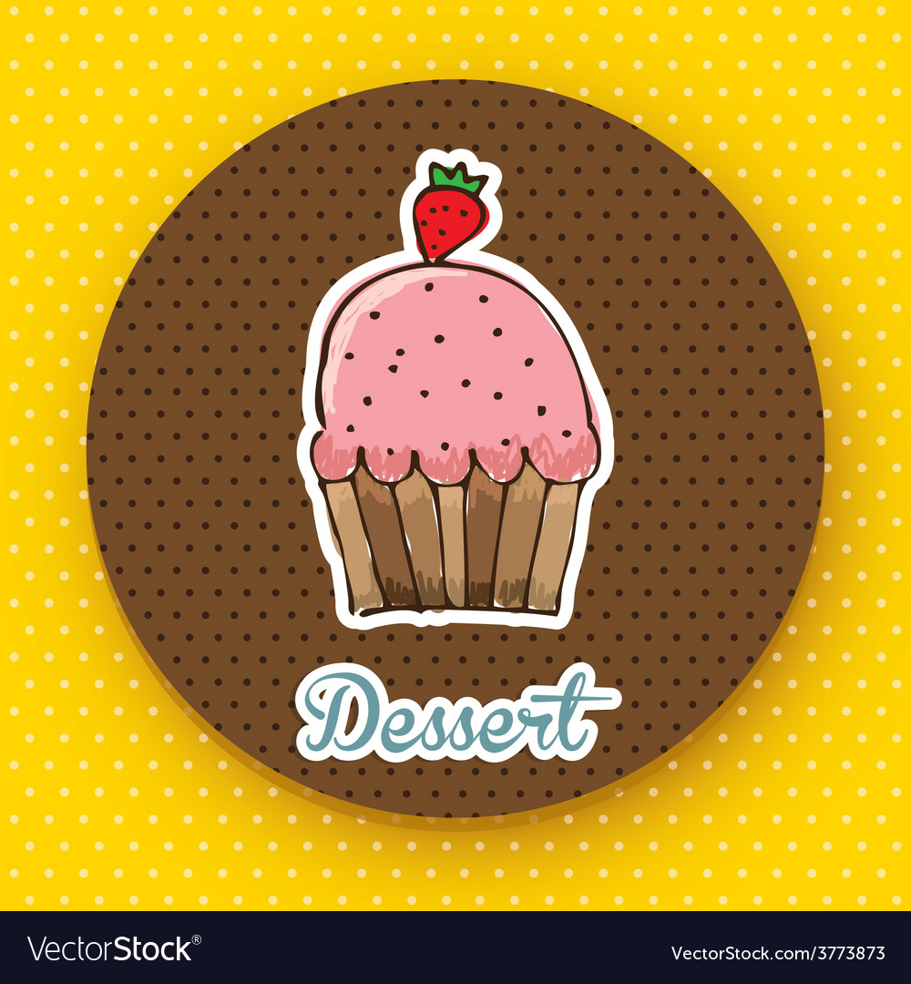 Delicious dessert vector | Price: 1 Credit (USD $1)