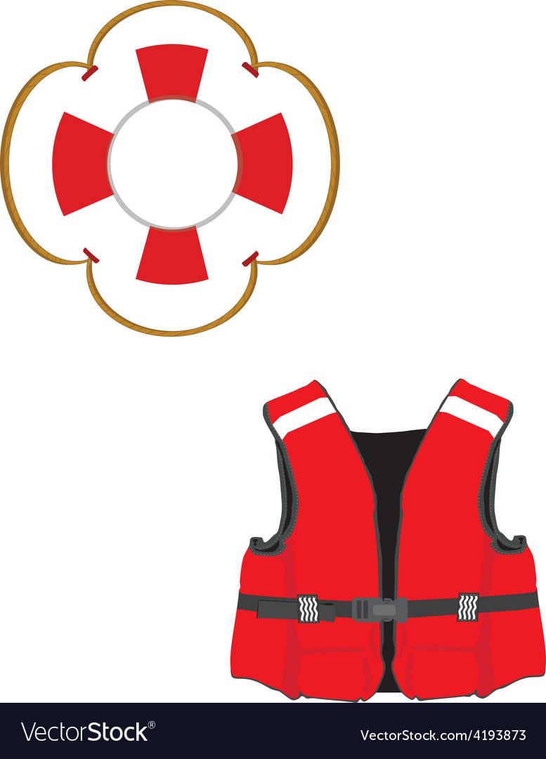 Life jacket and buoy vector | Price: 1 Credit (USD $1)