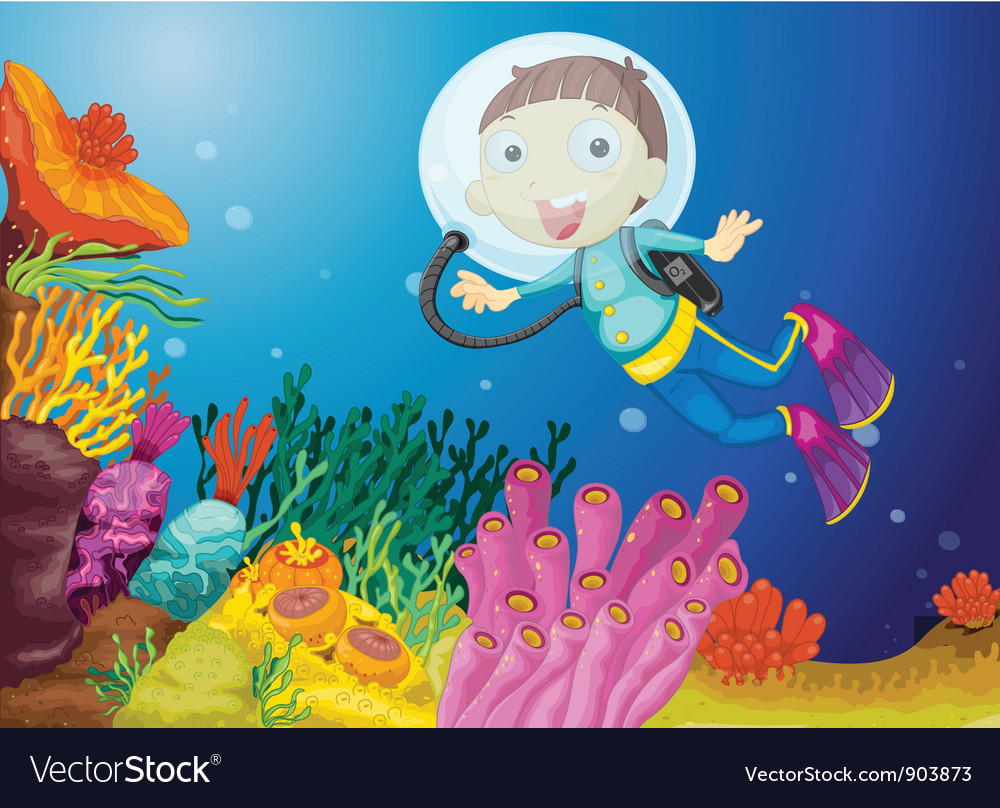 Scuba diving vector | Price: 5 Credit (USD $5)