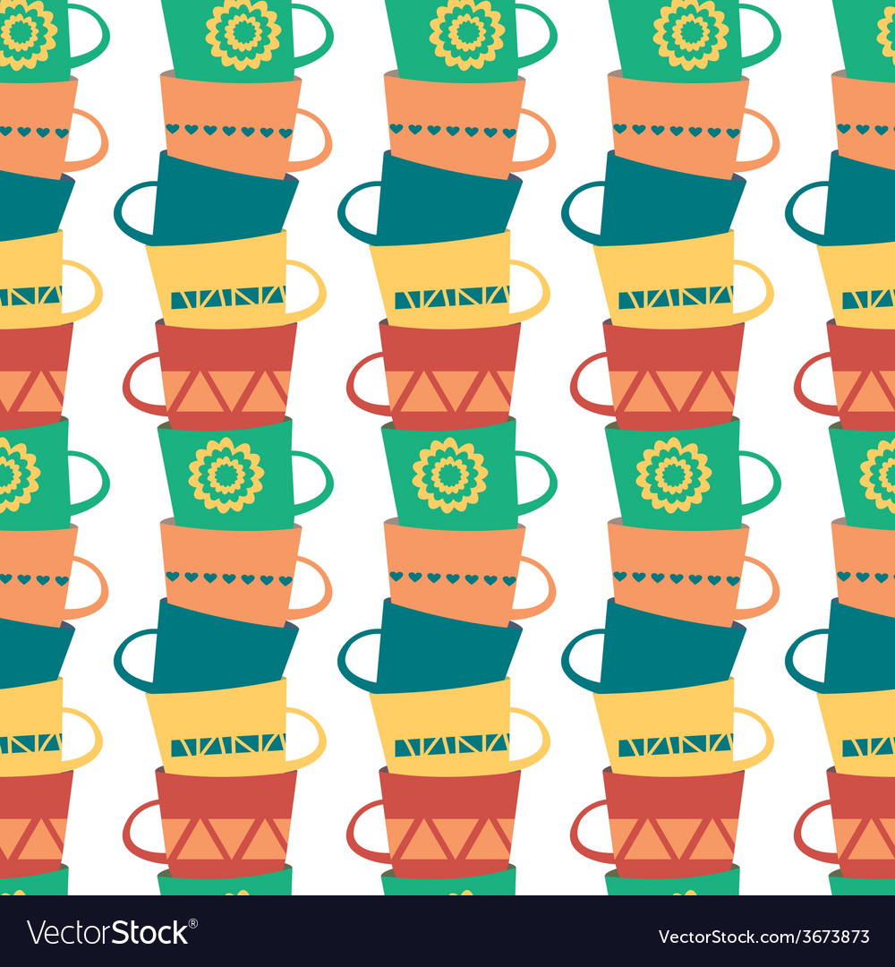 Seamless pattern with piles of stacked colorful vector | Price: 1 Credit (USD $1)