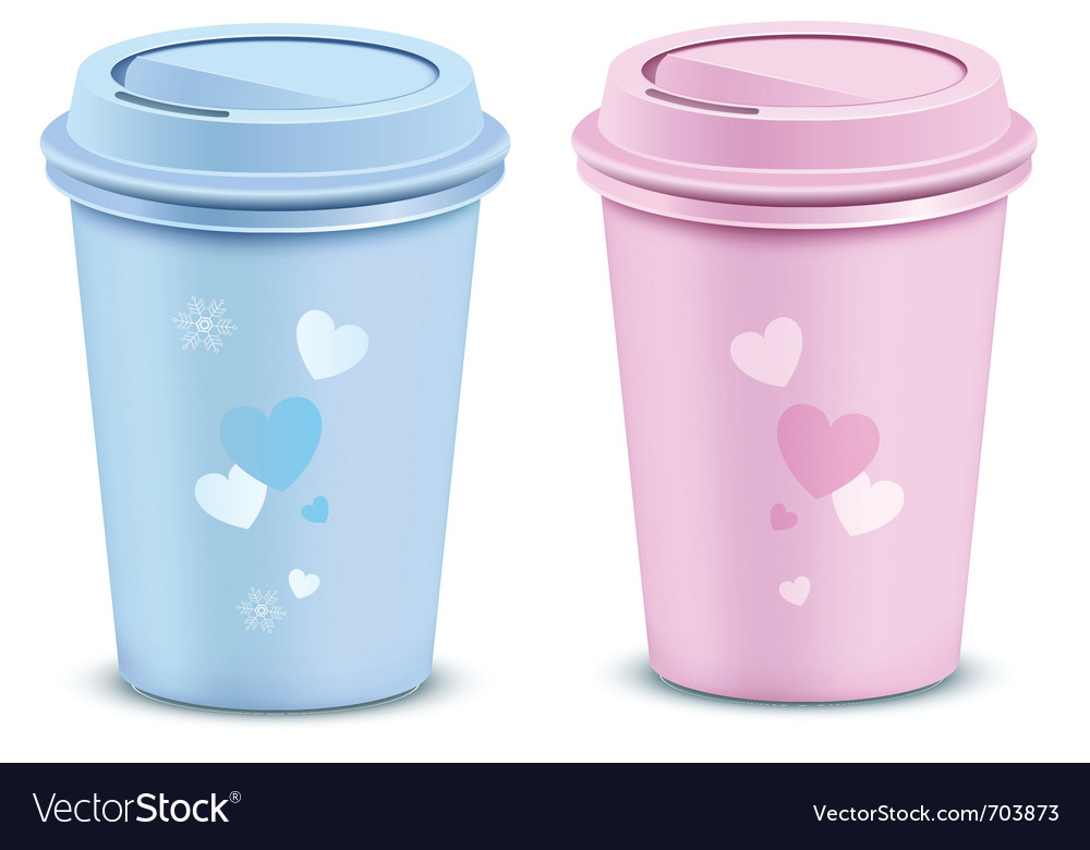 Valentines coffee cups vector | Price: 1 Credit (USD $1)