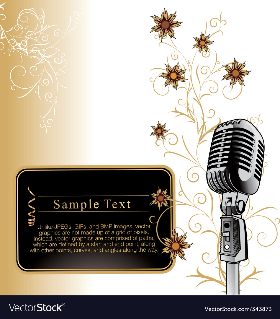Vintage microphone background vector | Price: 1 Credit (USD $1)