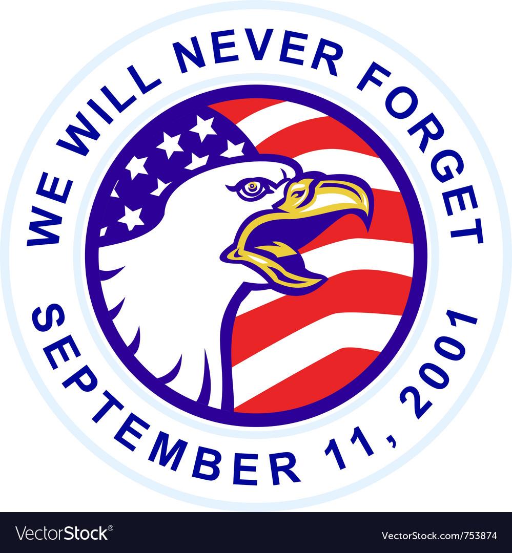 American bald eagle 911 vector | Price: 1 Credit (USD $1)