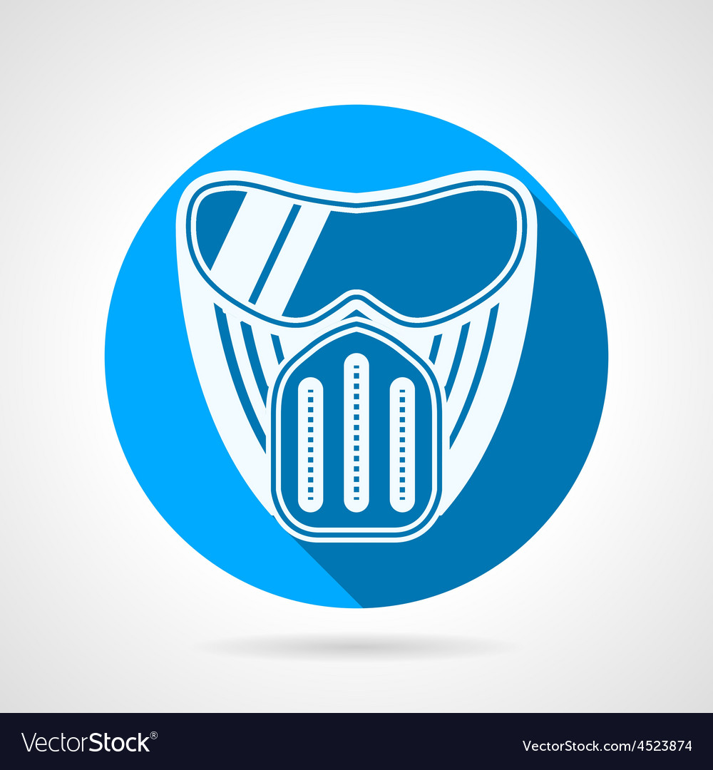 Blue flat icon for paintball mask vector | Price: 1 Credit (USD $1)