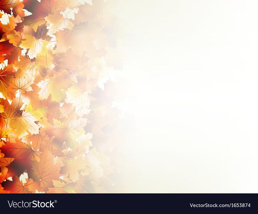 Falling autumn leaves on light eps 10 vector | Price: 1 Credit (USD $1)