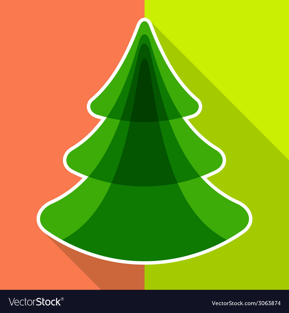 Flat christmas tree vector | Price: 1 Credit (USD $1)