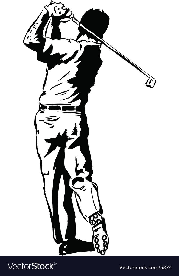Golf pose vector   Price: 1 Credit (USD $1)