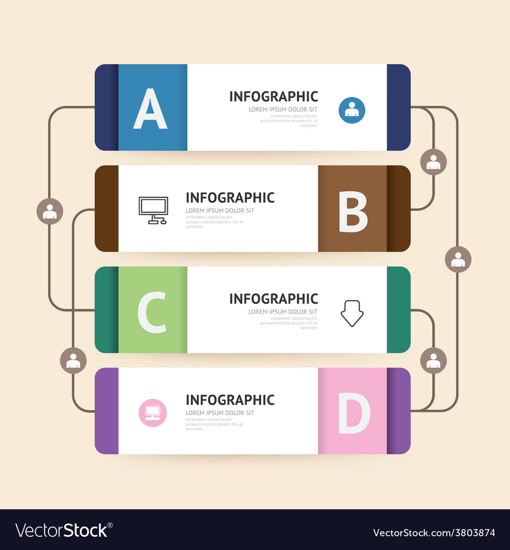 Modern infographic banner with line design vector | Price: 1 Credit (USD $1)