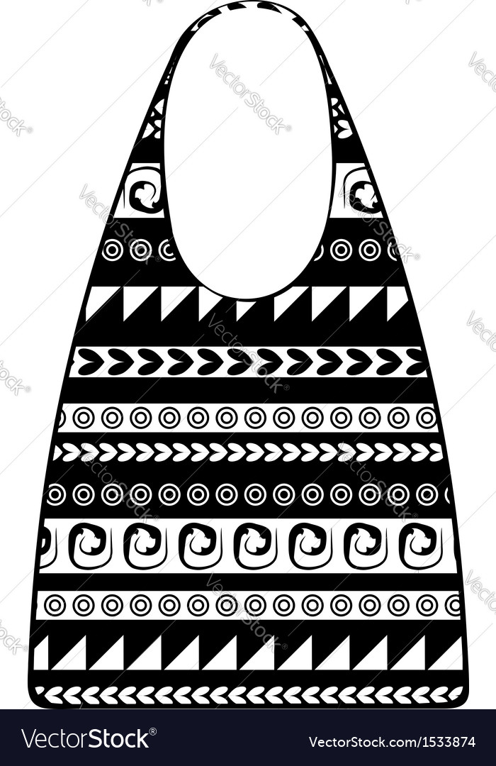 Paper shopping bag with ethnic ornament for your vector | Price: 1 Credit (USD $1)