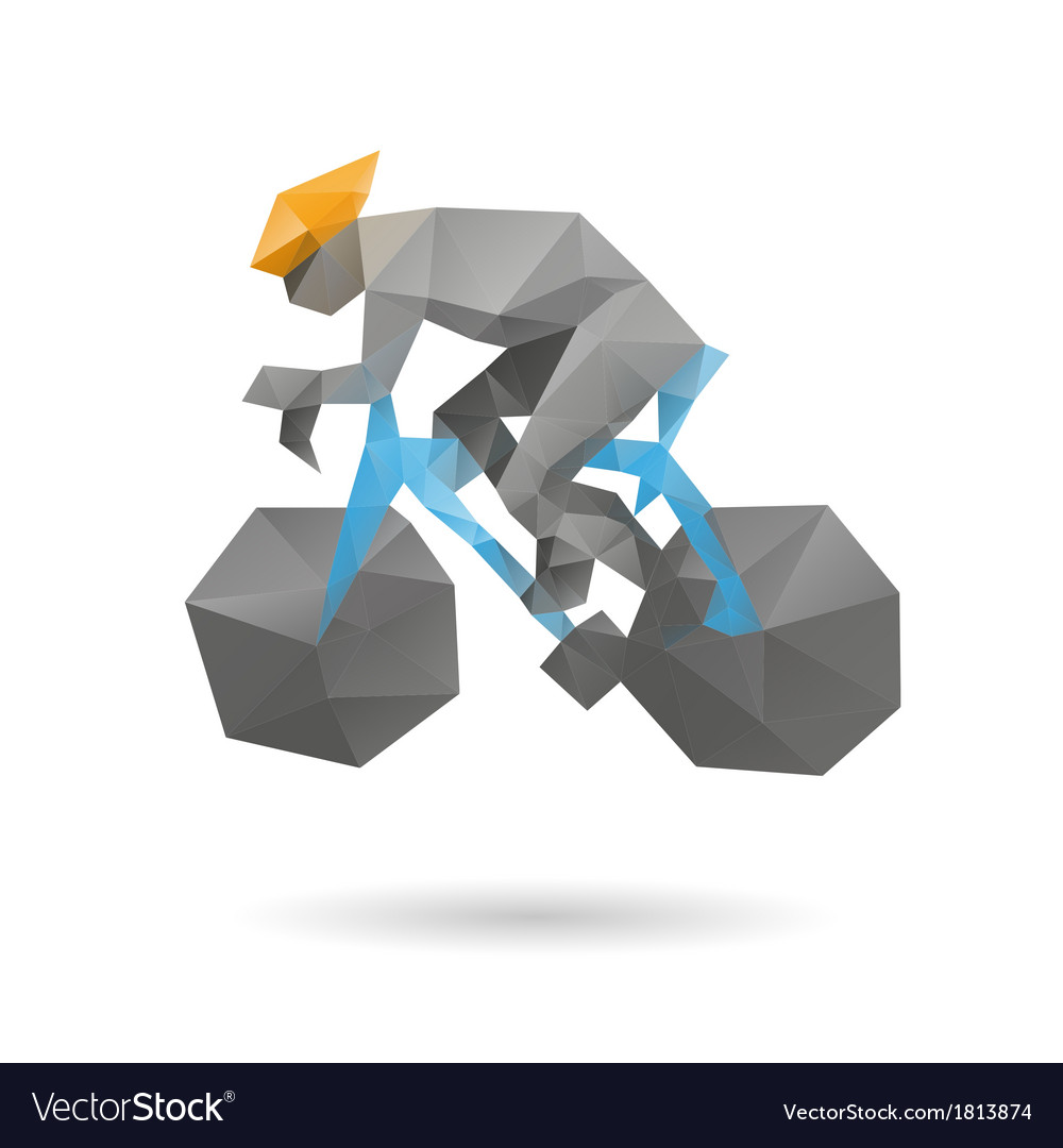 Racing cyclist abstract vector | Price: 1 Credit (USD $1)