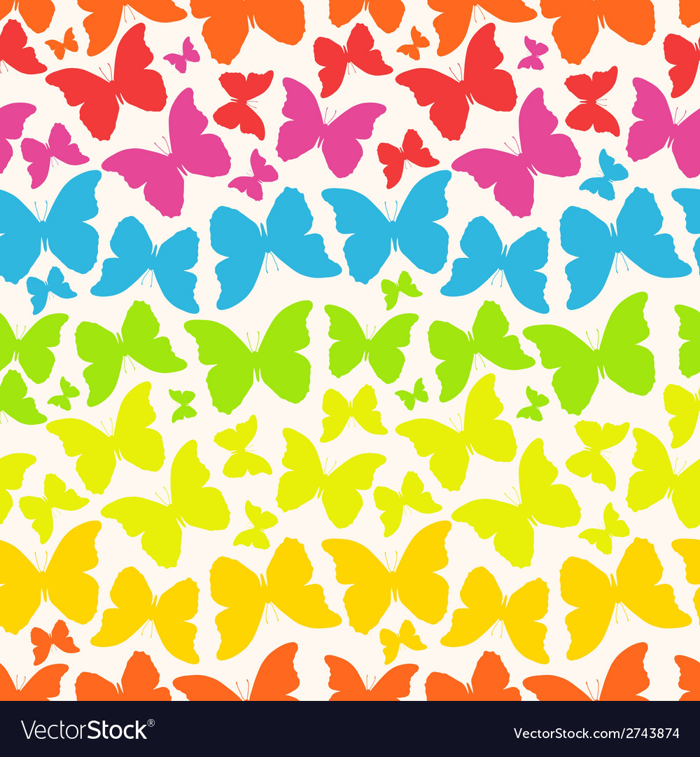 Seamless pattern with buttterflies vector | Price: 1 Credit (USD $1)
