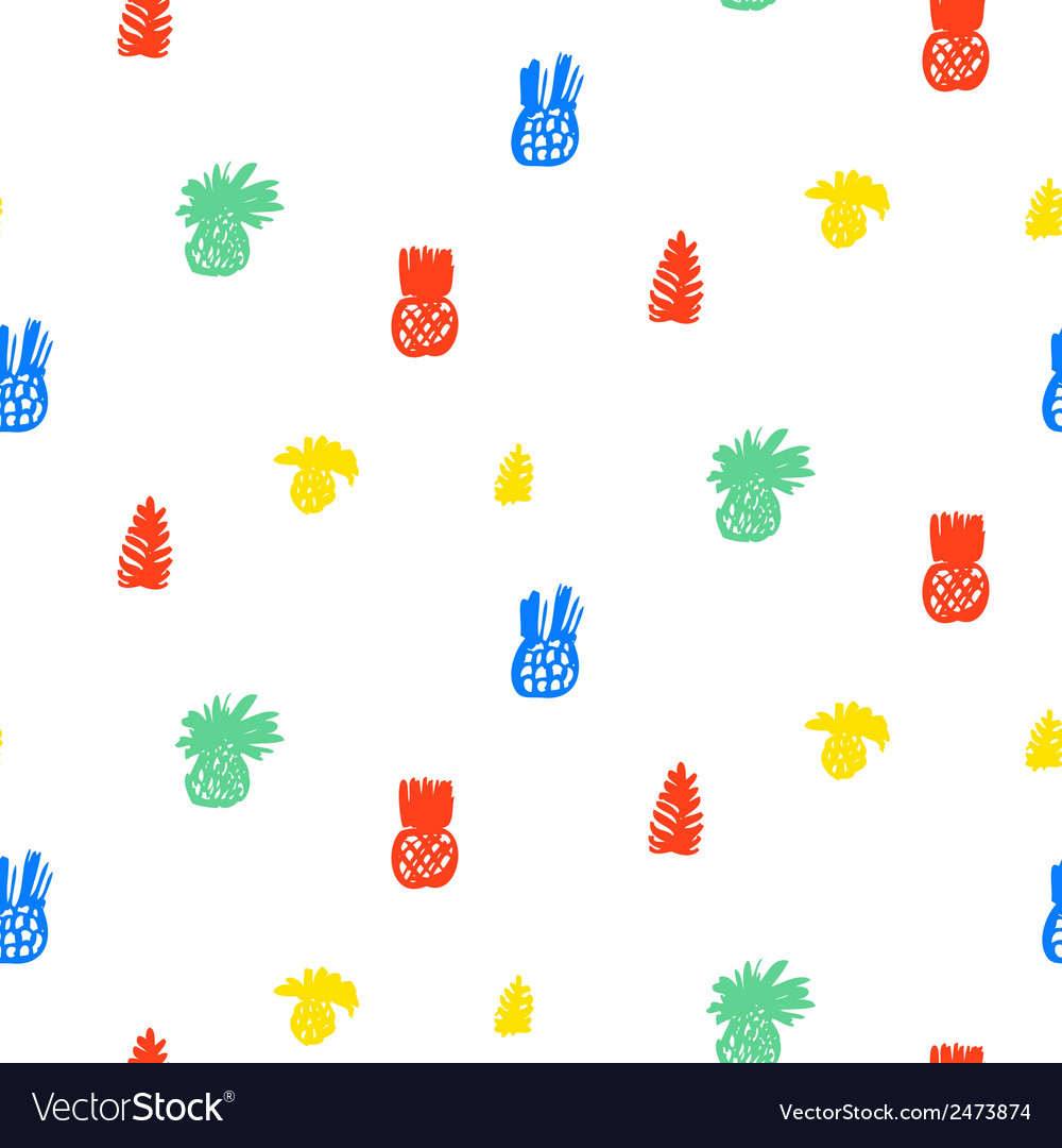 Tropical pattern with fruits and leafs vector | Price: 1 Credit (USD $1)