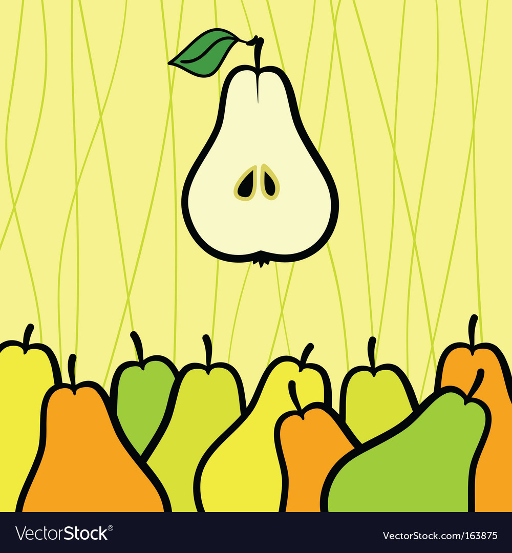 Abstract background with pear illustration vector | Price: 1 Credit (USD $1)