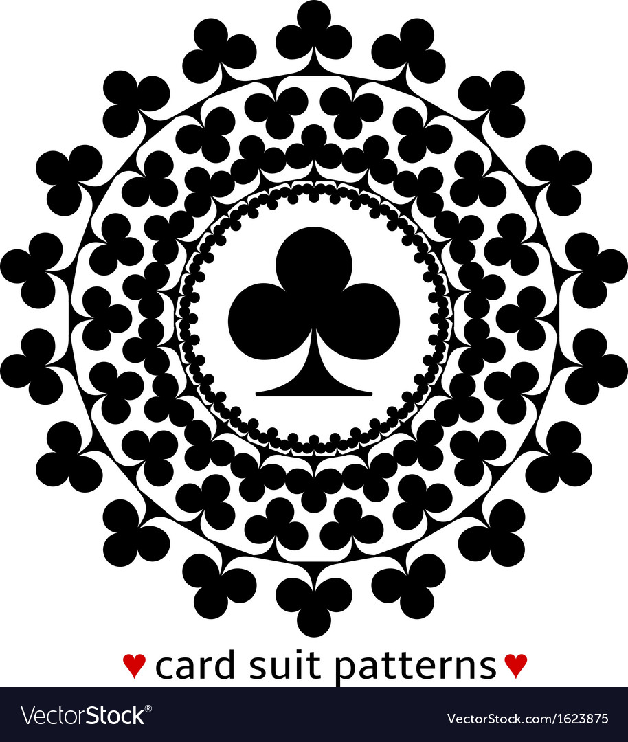 Club card suit pattern vector | Price: 1 Credit (USD $1)