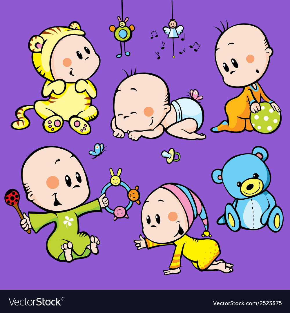 Cute babies vector | Price: 1 Credit (USD $1)