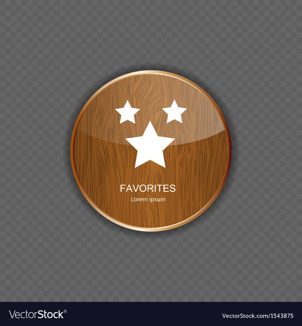 Favourites wood application icons vector | Price: 1 Credit (USD $1)