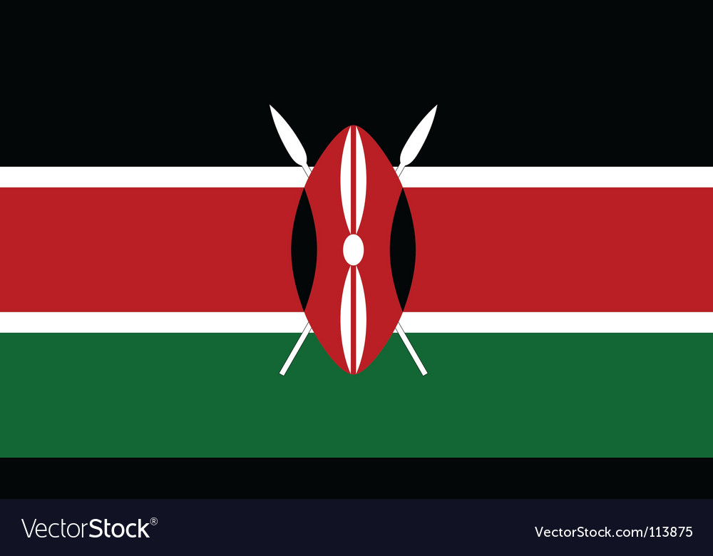 Kenya flag vector | Price: 1 Credit (USD $1)