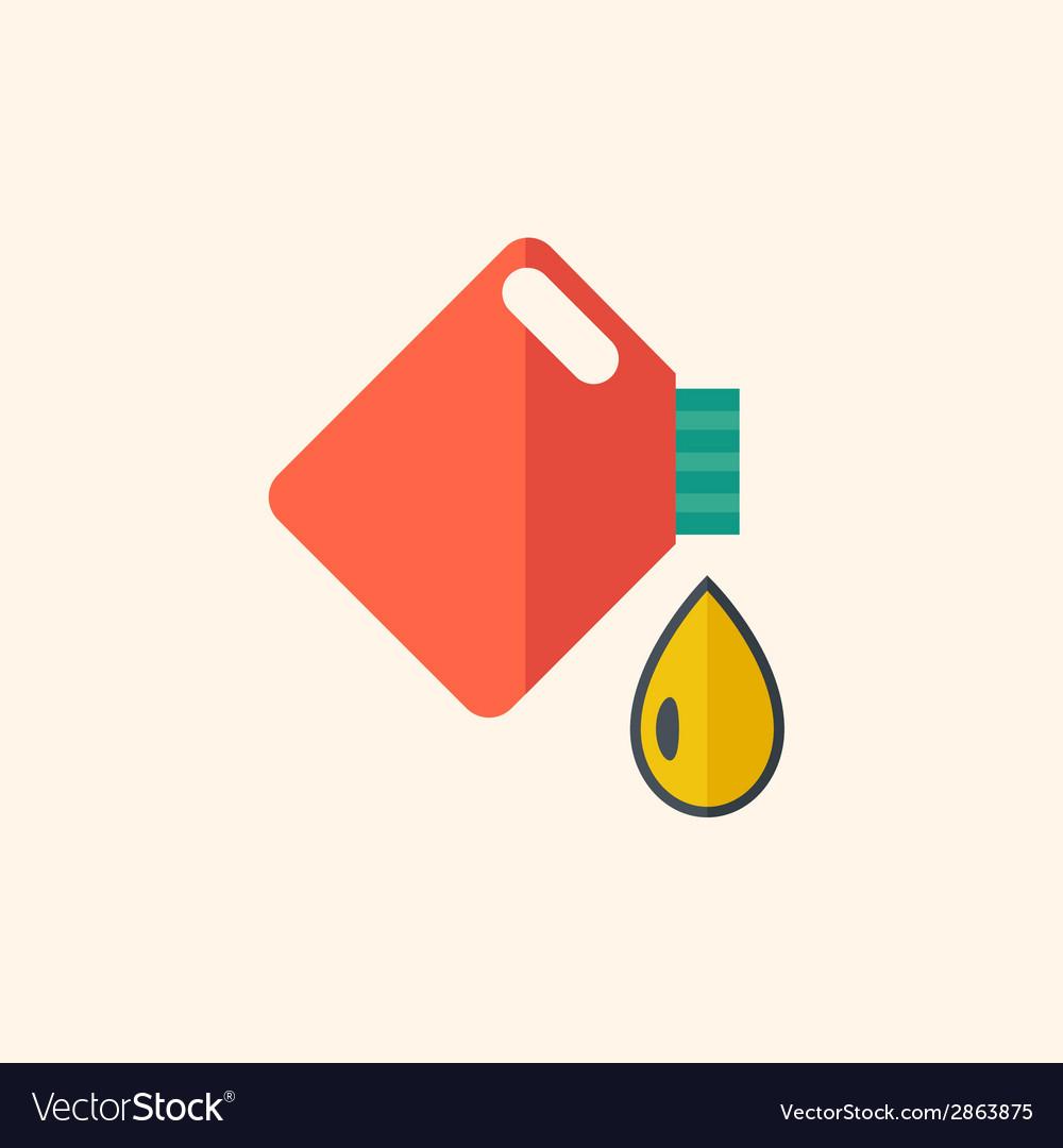 Oil flat icon vector | Price: 1 Credit (USD $1)