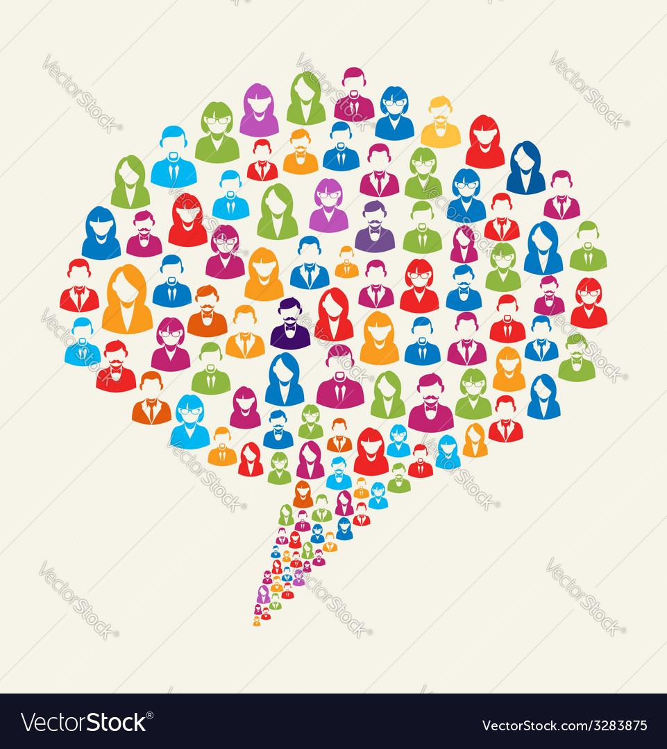 Social media user speech bubble vector | Price: 1 Credit (USD $1)