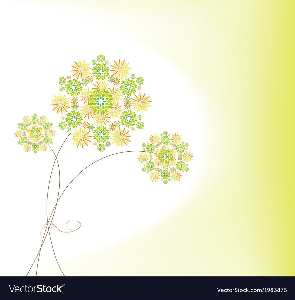 Abstract colorful background with flowers vector   Price: 1 Credit (USD $1)