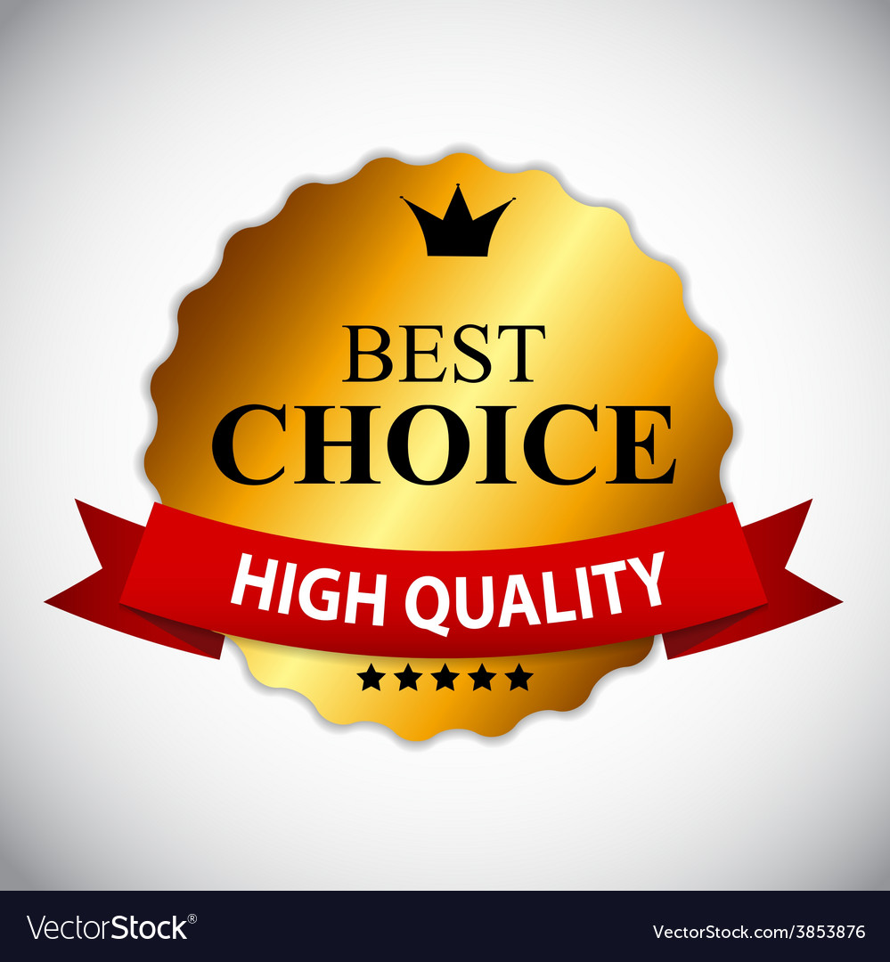 Best choice golden label with ribbon vector | Price: 1 Credit (USD $1)