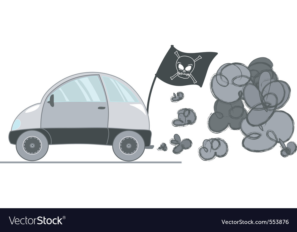 Car pollution vector | Price: 1 Credit (USD $1)