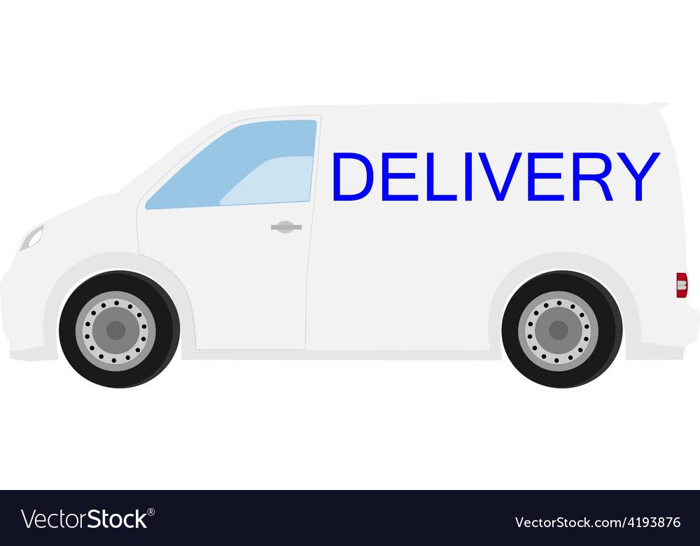 Delivery car vector | Price: 1 Credit (USD $1)