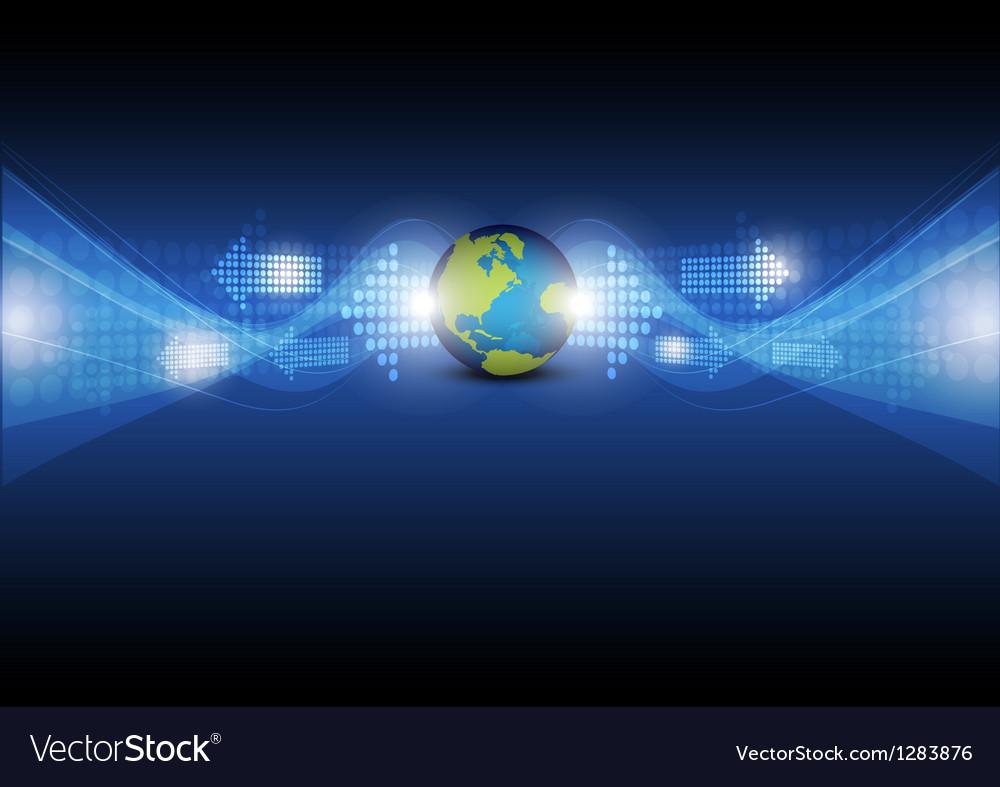 Digital arrow with global vector   Price: 1 Credit (USD $1)