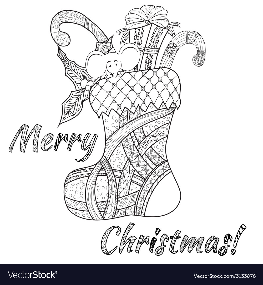 Doodle style christmas background vector | Price: 1 Credit (USD $1)